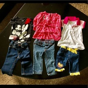 12 month bundle jeans and shirts